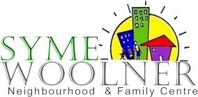 The Syme Woolner Neighbourhood and Family Centre (SWNFC) logo