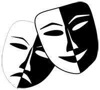 theatre masks symbol