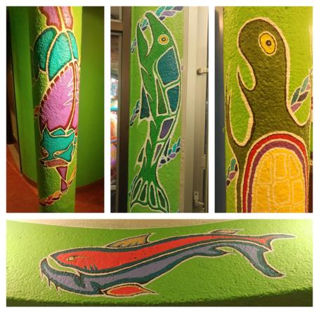 mural pillars